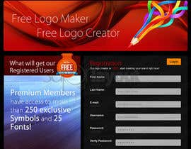 #35 pentru Sign Up page for Online Logo Maker de către superlayout