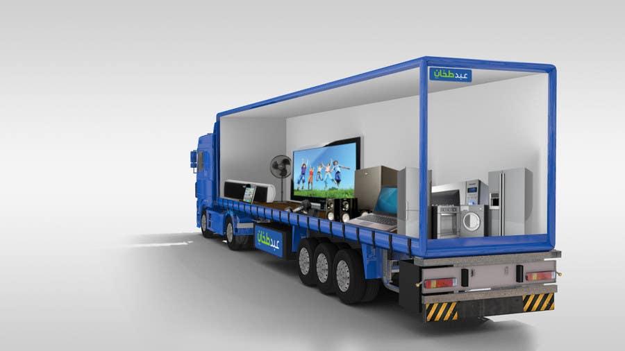 entry 37 by lujaguru for 3d design truck branding freelancer