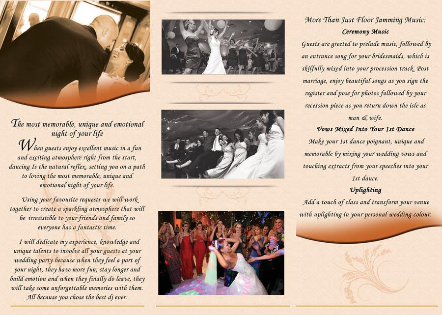 Contest Entry #                                        32                                      for                                         Brochure Design for DJ Terry J Lewis