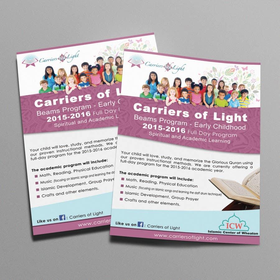 entry 8 by damirruff86 for design a flyer for preschool program