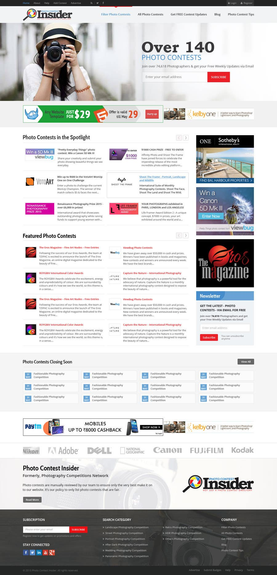 Penyertaan Peraduan #49 untuk Design a Homepage mockup for our existing website WITHOUT changing the layout [PSD ONLY]