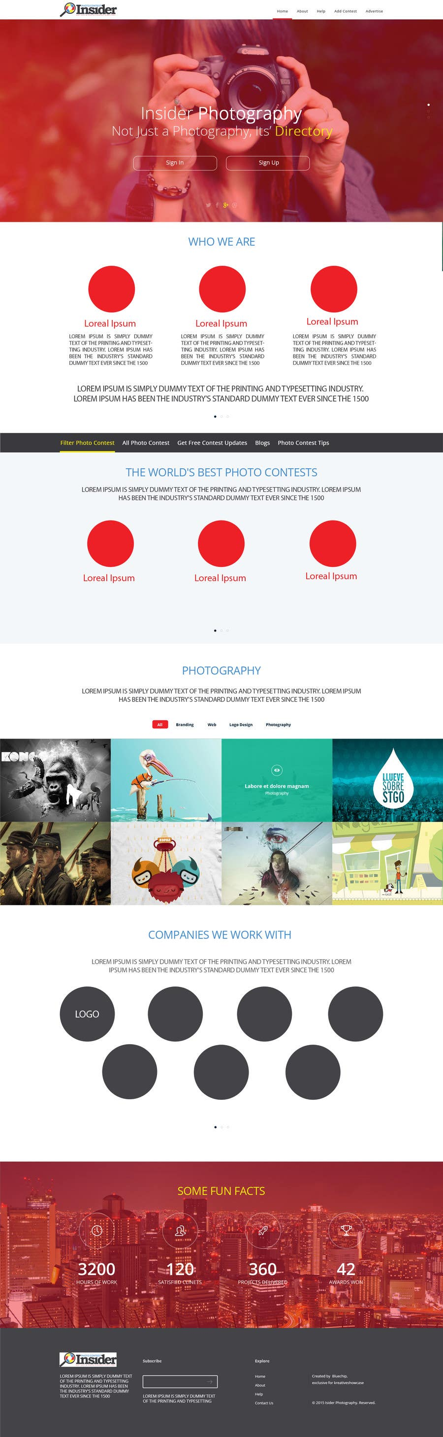 Penyertaan Peraduan #10 untuk Design a Homepage mockup for our existing website WITHOUT changing the layout [PSD ONLY]