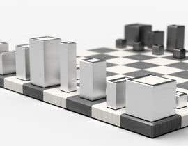 #24 para Photo Realistic 3D Rendering of a minimalistic chess board on top of a surface. por mekhack