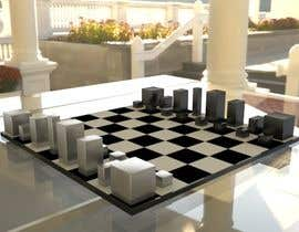 #61 untuk Photo Realistic 3D Rendering of a minimalistic chess board on top of a surface. oleh gokuGX