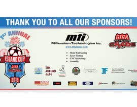 #16 for Design a Banner for Soccer Tournament Sponsors af Vifranco89