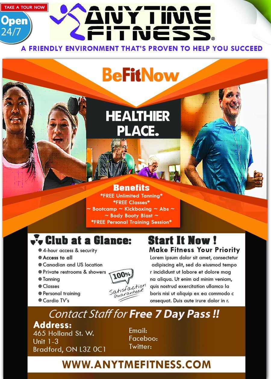 Kilpailutyö #13 kilpailussa ReDesign ad for Gym