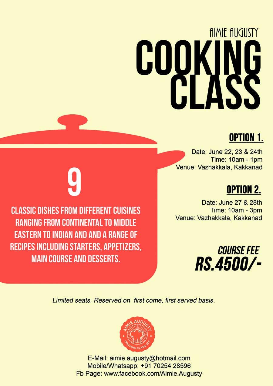 Kilpailutyö #15 kilpailussa Design a Flyer for Cooking Class