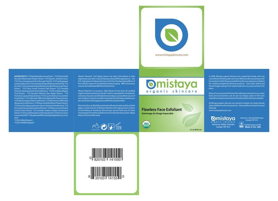 Design Product Label Package Leverage existing Organic Cosmetic – Product Label Template