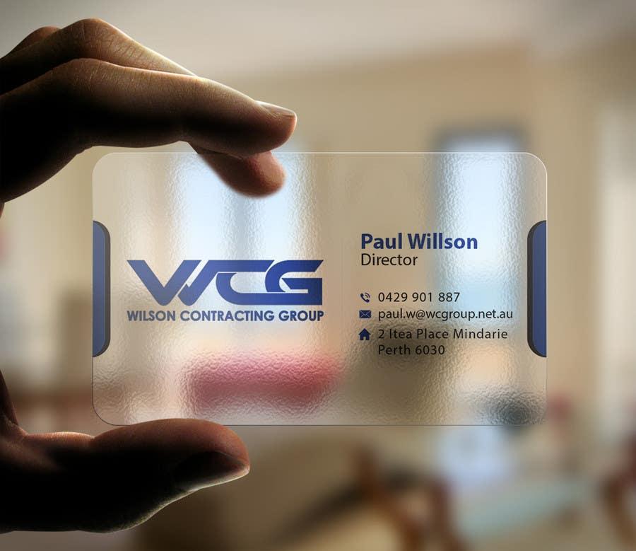 Kilpailutyö #79 kilpailussa Design some Business Cards for WCG