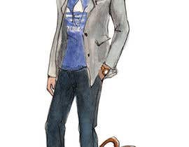 #1 cho need a sketch of a cool guy, dressed casual bởi exitosoftwares