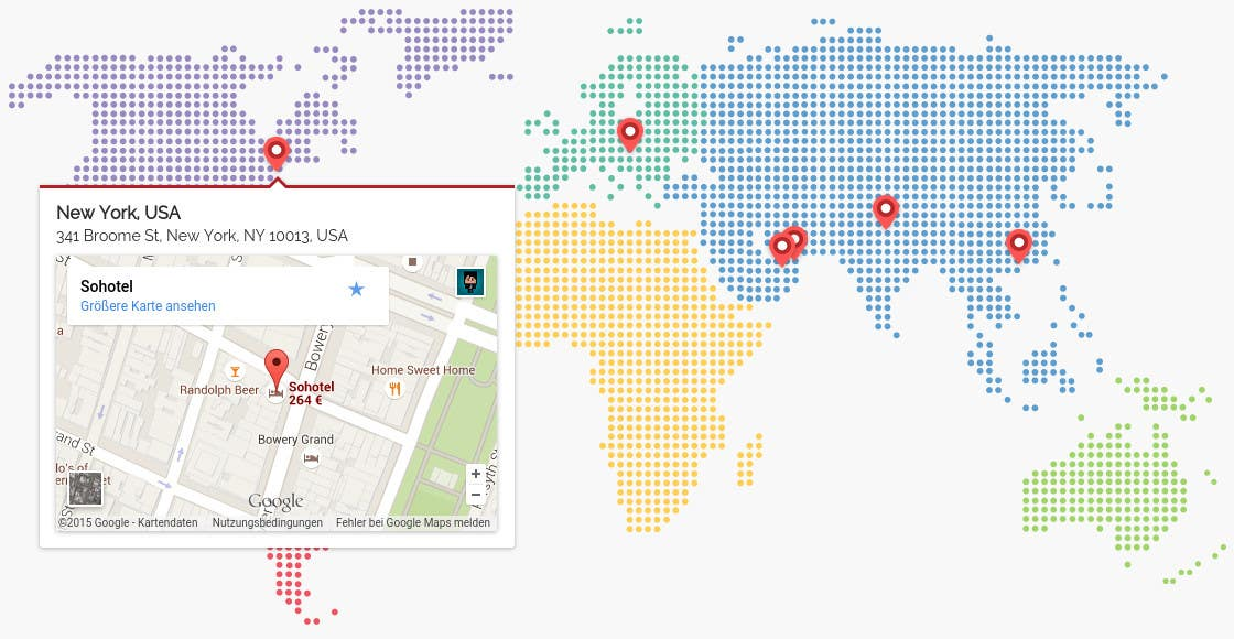 Entry 5 by moqmar for Design a responsive HTML World Map with
