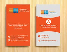 Nro 39 kilpailuun Design a vertical (two sides)Business Card + horizontal Business Card (two sides) for Emotion Marketing käyttäjältä sanratul001
