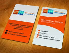 #7 cho Design a vertical (two sides)Business Card + horizontal Business Card (two sides) for Emotion Marketing bởi akhi1sl