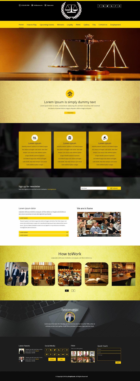 Bài tham dự cuộc thi #10 cho Design a Website Mockup for http://www.marinolaw.org