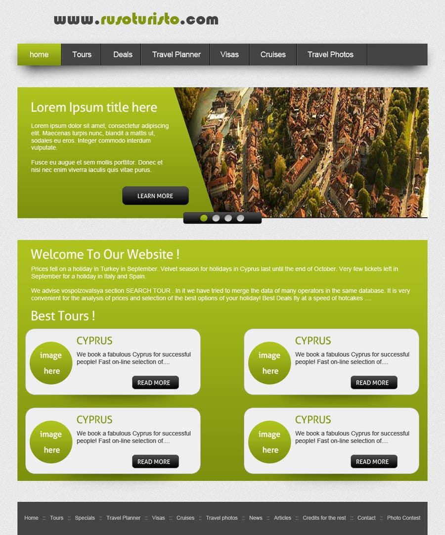 Inscrição nº                                         2                                      do Concurso para                                         Design a Website Mockup for RusoTuristo.com