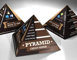 #5 for Create Print and Packaging Design for Pyramid Shaped Box - [Software Packaging] by peshan
