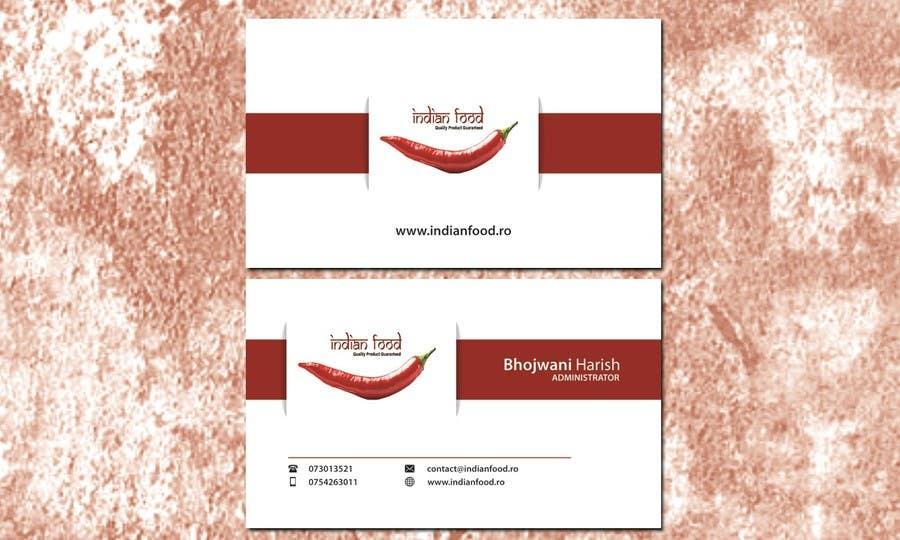 Kilpailutyö #31 kilpailussa Design some Business Cards for www.indianfood.ro