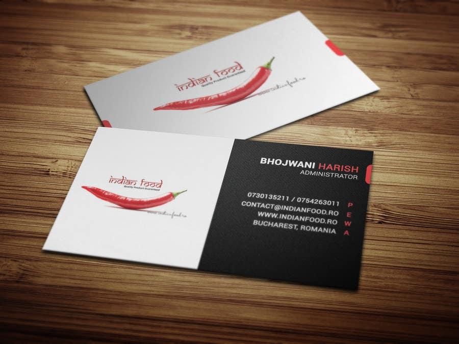 Kilpailutyö #27 kilpailussa Design some Business Cards for www.indianfood.ro
