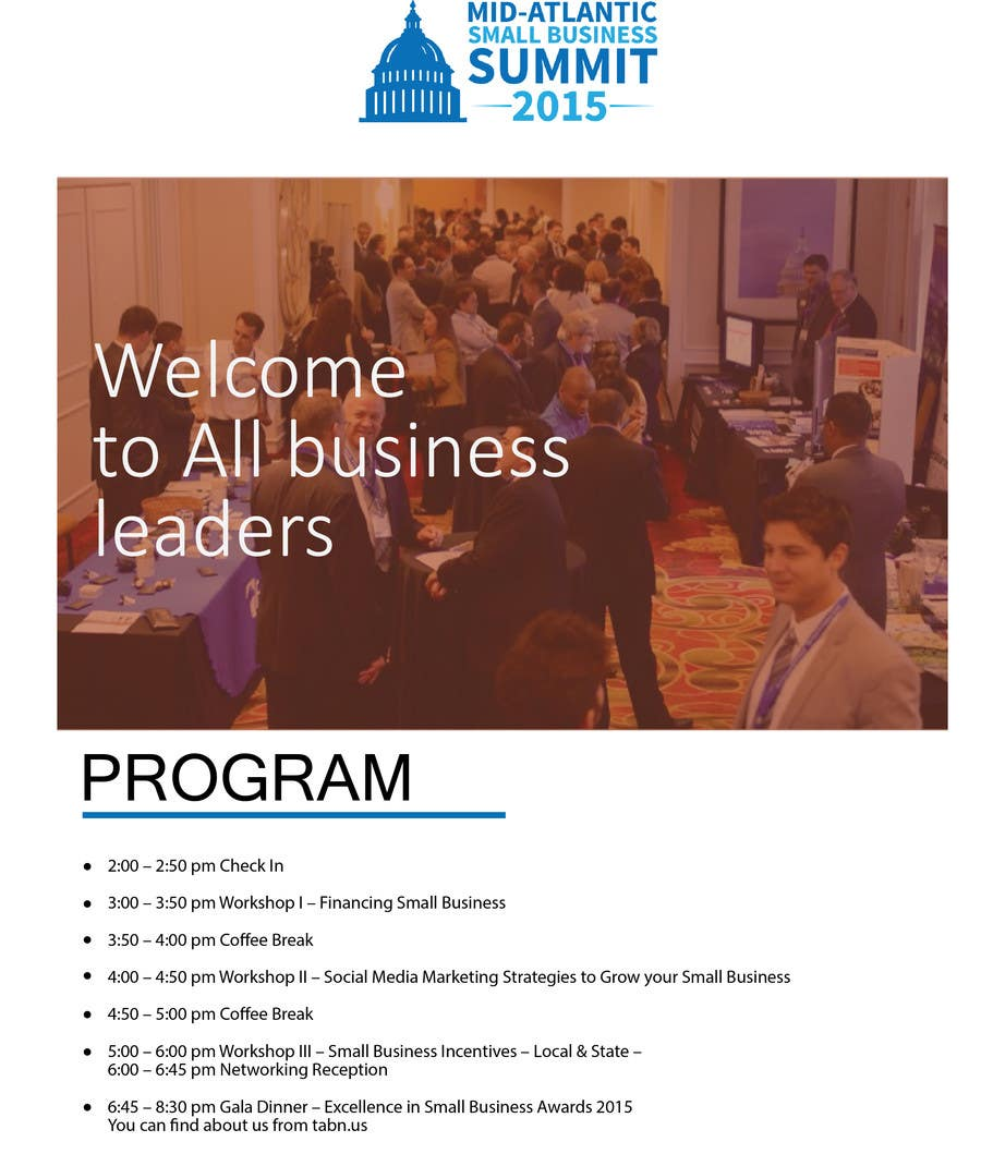 Kilpailutyö #2 kilpailussa Design a Flyer for Business Summit Event