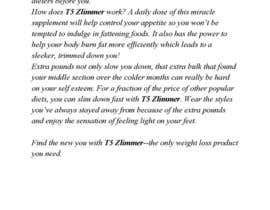 #6 for Content Writing for 1 page eBay advert - product called T5 Zlimmer by vixter09