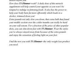 vixter09 tarafından Content Writing for 1 page eBay advert - product called T5 Zlimmer için no 6