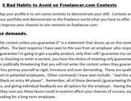 #20 for Share the top 5 tips related to being a freelancer by bbunny17