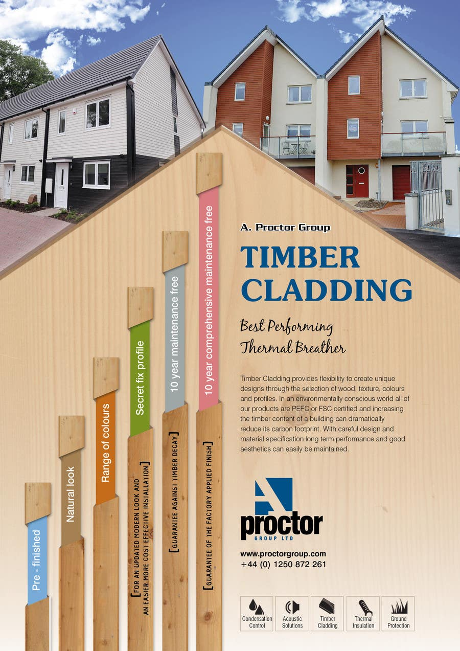 #36 for Design an Advertisement for Timber Cladding by jj0357