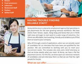 #9 cho Design a Brochure for my employment agency bởi ezesol