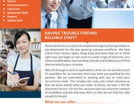 #10 cho Design a Brochure for my employment agency bởi ezesol
