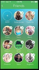 Nro 8 kilpailuun Design an App Mockup for a social media travel app käyttäjältä ketu4you