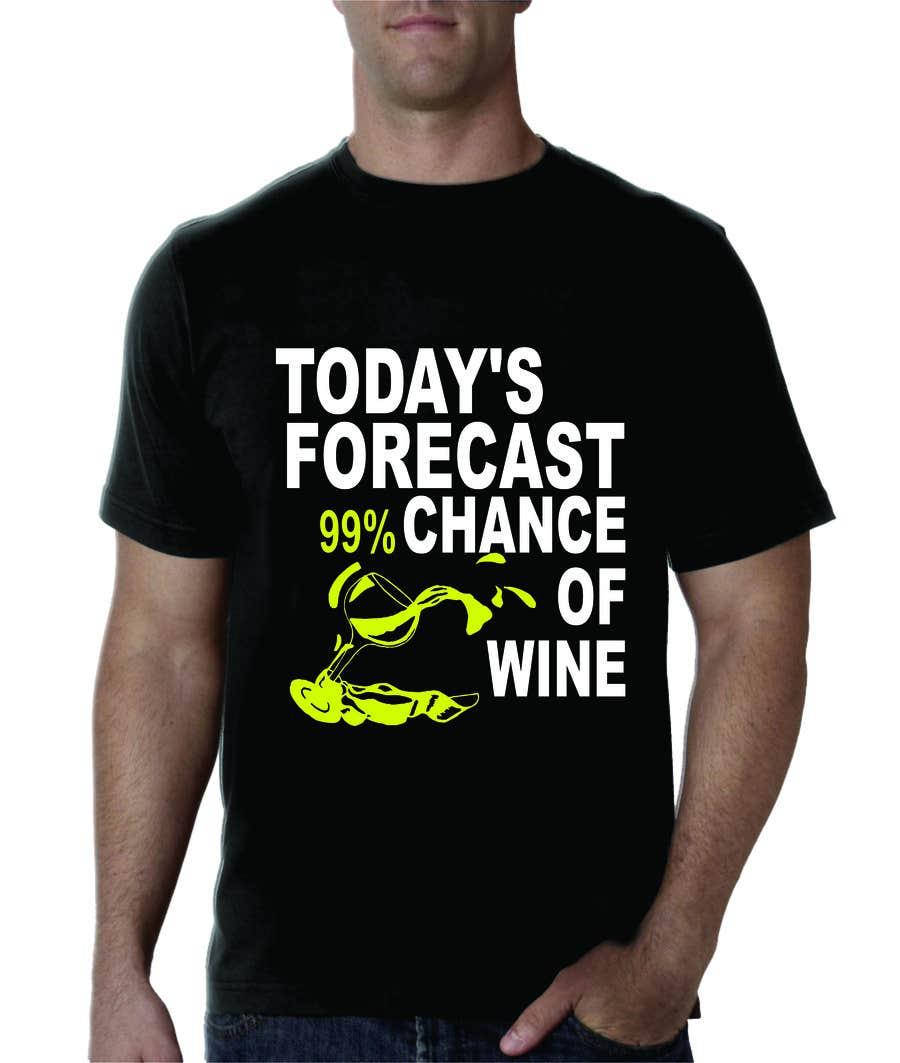 Kilpailutyö #5 kilpailussa Design a Wine based T-Shirt Tee