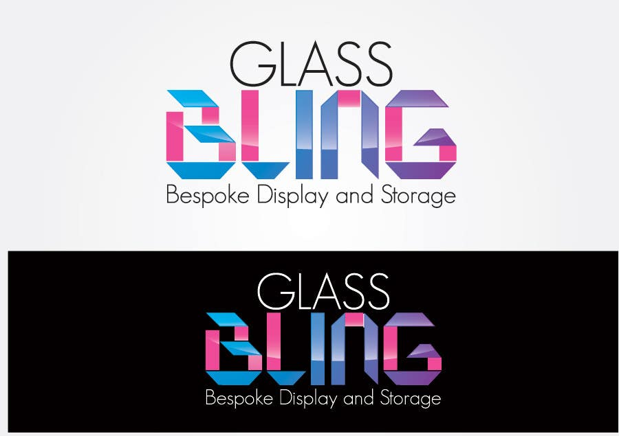 logo design for glassbling taupo freelancer