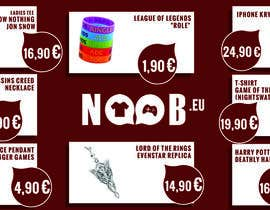 #10 untuk Design a Flyer for our e-shop NOOB.EU (gaming, movies, tv shows) oleh danaesiaveli