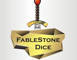 #11 untuk Design a Logo for Fablestone Dice - Fantasy roleplaying theme oleh sergeykuzych