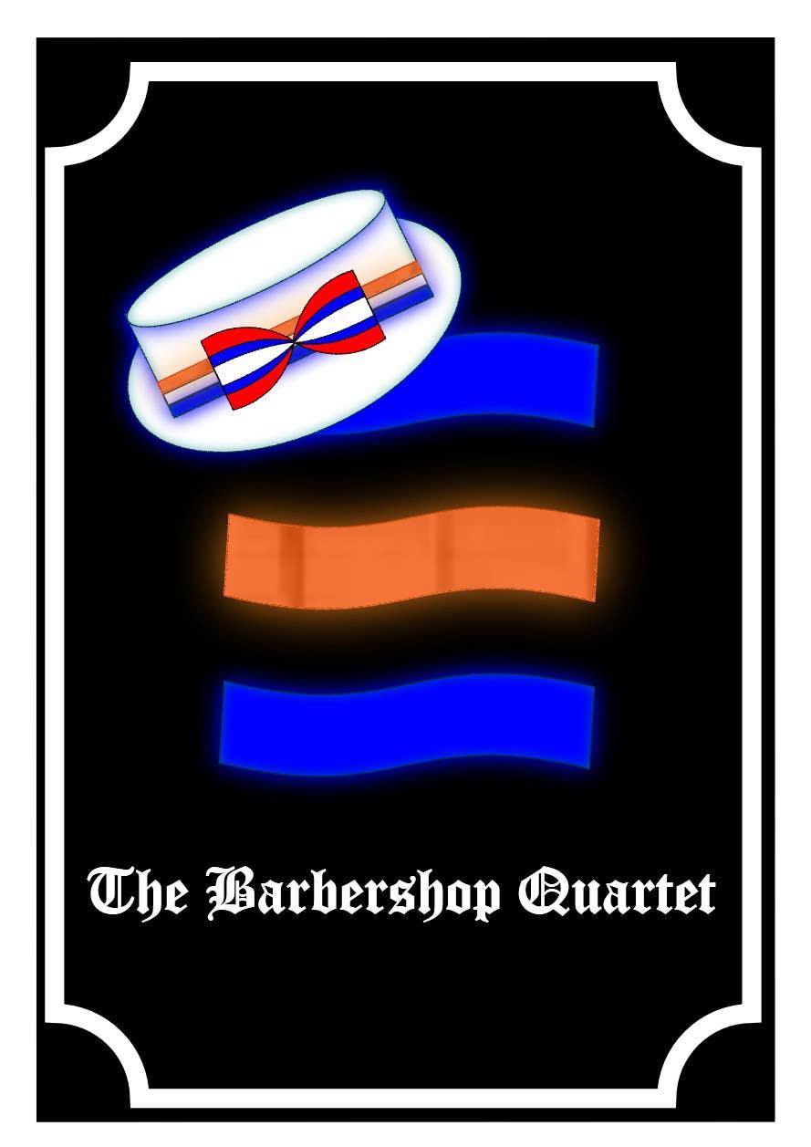 Inscrição nº 38 do Concurso para Design a Logo for a Barbershop Quartet