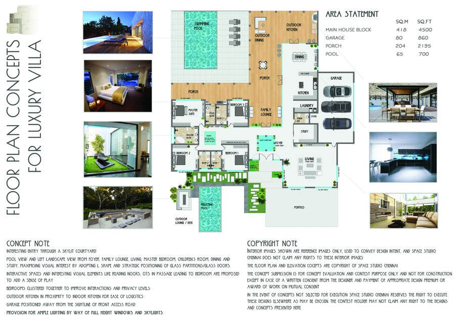 Penyertaan Peraduan #10 untuk Luxury Residential Home Design (Concept)
