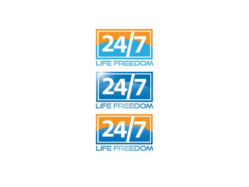 "Kilpailutyö #64 kilpailussa Design a Logo for ""24/7 Life Freedom"""