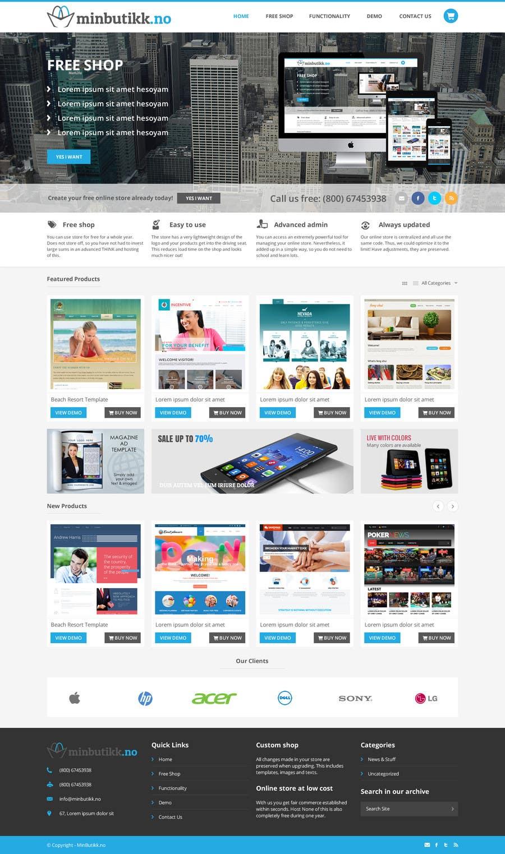 Konkurrenceindlæg #40 for Design for website (front+subpage)