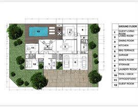 #51 untuk Floorplan for modern contemporary house oleh vlangaricas
