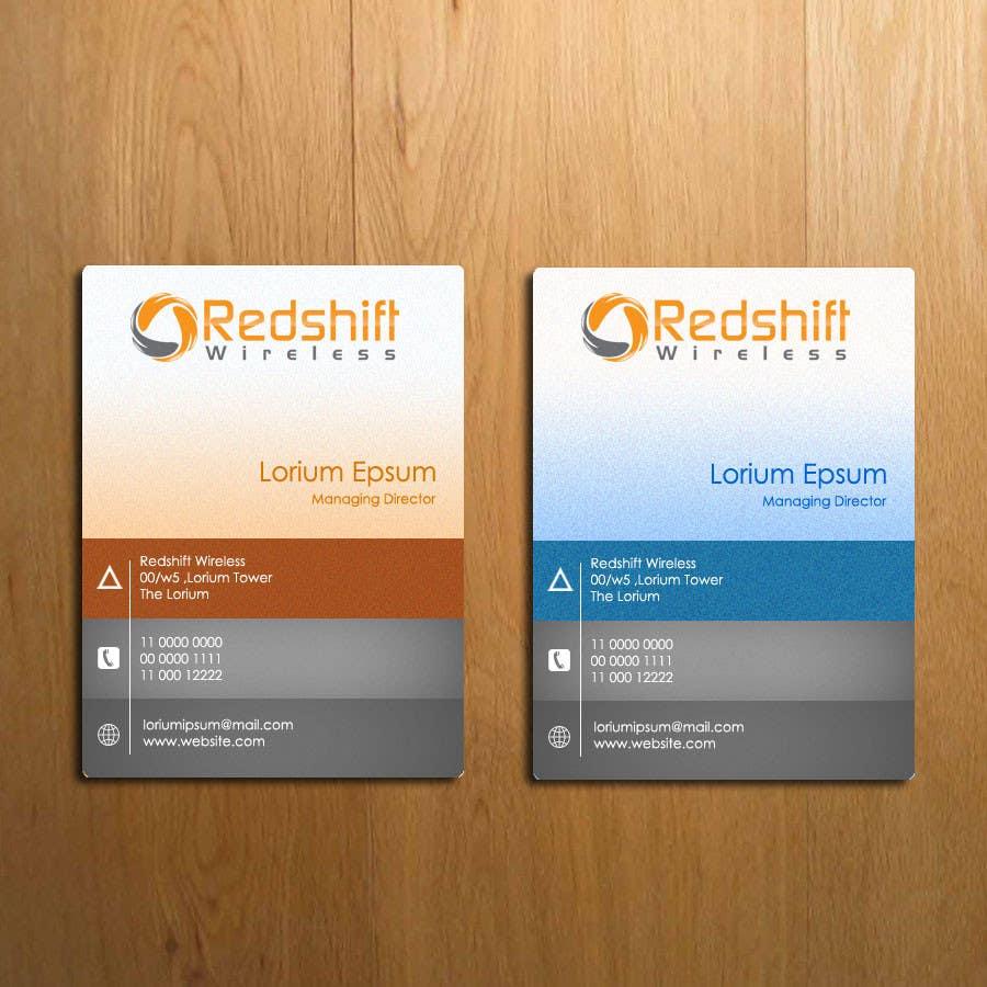 Penyertaan Peraduan #28 untuk Business Card for Redshift Wireless