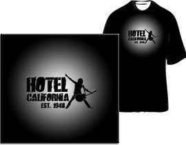 nº 21 pour Vintage T-shirt Design for HOTEL CALIFORNIA par jessitography