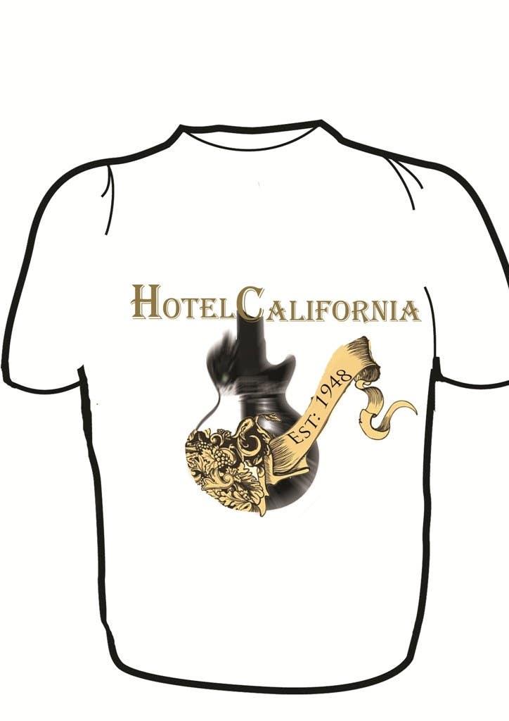 Kilpailutyö #46 kilpailussa Vintage T-shirt Design for HOTEL CALIFORNIA