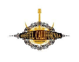 #89 para Vintage T-shirt Design for HOTEL CALIFORNIA de outlinedesign