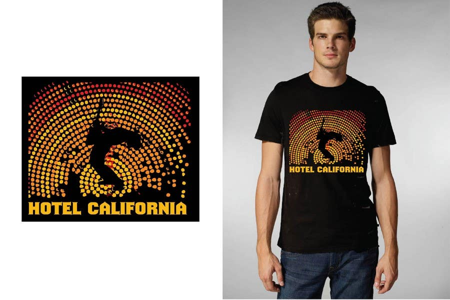 Entri Kontes #                                        69                                      untuk                                        Vintage T-shirt Design for HOTEL CALIFORNIA