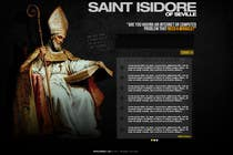 Graphic Design Entri Kontes #7 untuk Graphic Design for One page web site for the Saint Of the Internet: St. Isidore of Seville