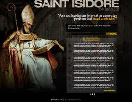 #22 para Graphic Design for One page web site for the Saint Of the Internet: St. Isidore of Seville de RockPumpkin