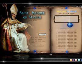 #12 za Graphic Design for One page web site for the Saint Of the Internet: St. Isidore of Seville od ionutlexx