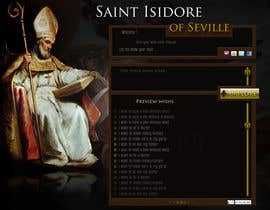 #19 cho Graphic Design for One page web site for the Saint Of the Internet: St. Isidore of Seville bởi ionutlexx