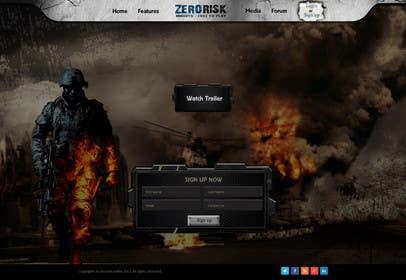 Nro 16 kilpailuun Design a Website Mockup for RTS Browser Game käyttäjältä kreativeminds