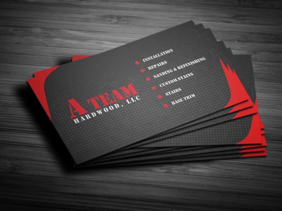 Penyertaan Peraduan #23 untuk Design some Business Cards for A Team Hardwoods